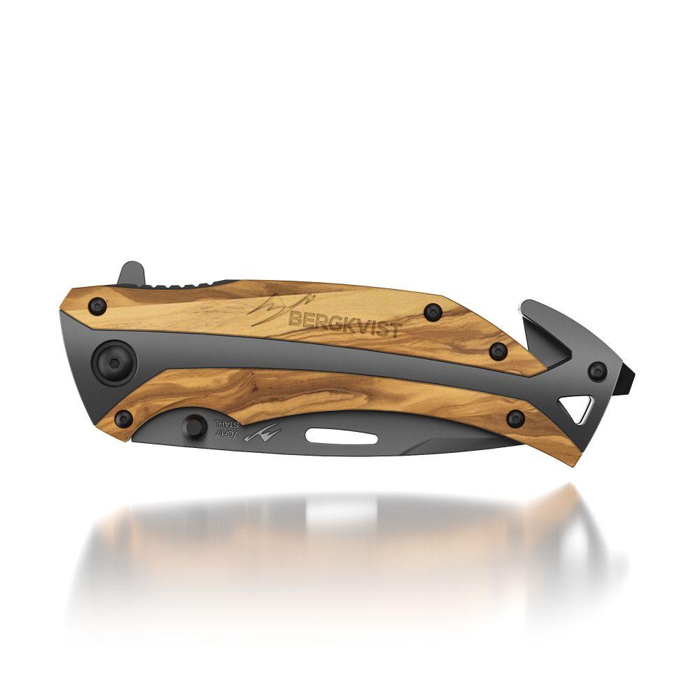 BERGKVIST K29 Titanium Einhandmesser Taschenmesser Klappmesser mit Schleifstein